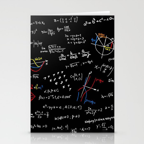 math blackboard Stationery Cards