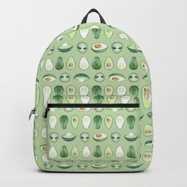 Avocados and aliens pattern Backpack