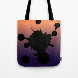 Sunset Gradient Splatter Tote Bag