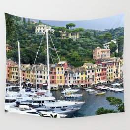 Portofino Harbour Italy Wall Tapestry