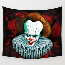 The Dancing Clown - Pennywise IT - Vector - Stephen King Character Wall Tapestry