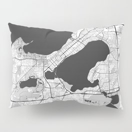 Madison Map Gray Pillow Sham