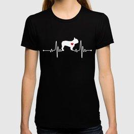 French Bulldog dog heartbeat T-shirt