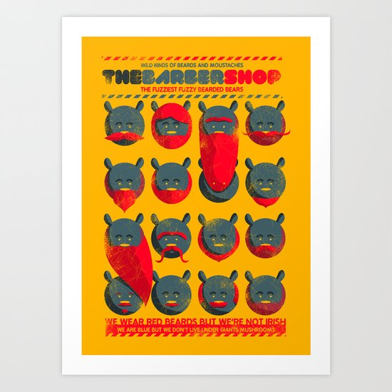 The Barber Shop Art Print