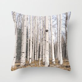 Trees of Reason - Birch Forest Throw Pillow