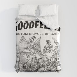 Goodfellas Custom Bicycle Brigade - Calaveras Logo Comforters