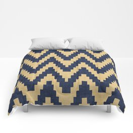 Twine in Blue and Gold Comforters