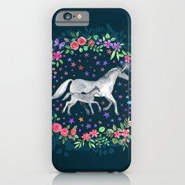 Mama and Baby Unicorn iPhone Case
