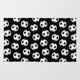 Soccer Ball Pattern-Black Rug
