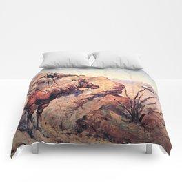 "Frederic Remington Western Art ""Apache Ambush"" Comforters"