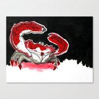 crab Canvas Prints featuring Crab by Lieke Mulder