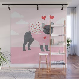 French Bulldog love bug cute valentines day dog breed gifts for dog lover frenchie Wall Mural
