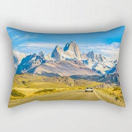 Snowy Andes Mountains, El Chalten, Argentina Rectangular Pillow