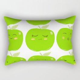 Pack of Granny Smith Apples Rectangular Pillow