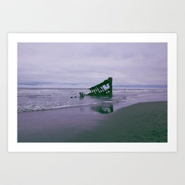 Shipwreck at Fort Stevens state park Oregon Art Print