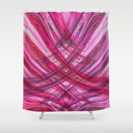 Frenetic Ribbons of Candied Glass Shower Curtain