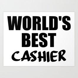 worlds best cashier Art Print