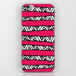 aztec stripes pink iPhone Skin