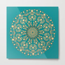Mandala Project 265 | Gold Metal Print