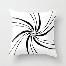 InwardSpiral Throw Pillow