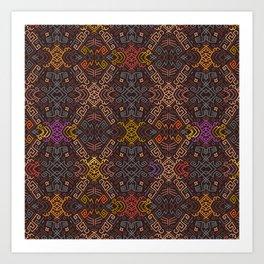 Autumn Tribal Pattern #3 Art Print