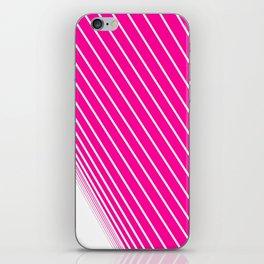 pink & white stripes iPhone Skin
