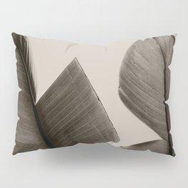 Banana Tree Leaves in Sepia Pillow Sham