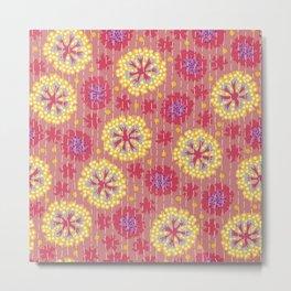 Kantha floral 7 Metal Print