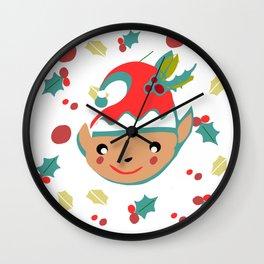 cute gnome Wall Clock