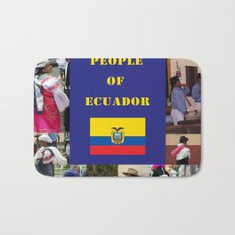 The People of Ecuador, Collage Bath Mat