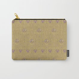 Purple and gold keys and padlocks antique style pattern Carry-All Pouch