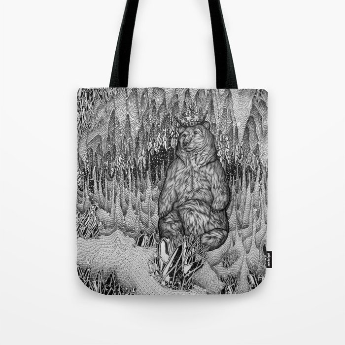 Cave of the Bear King Tote Bag