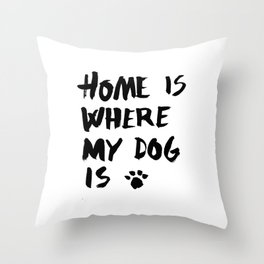 Dog Throw Pillow