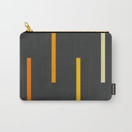 Abstract Minimal Retro Stripes Ashtanga Carry-All Pouch