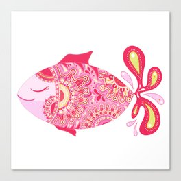 Touchy Fish Canvas Print