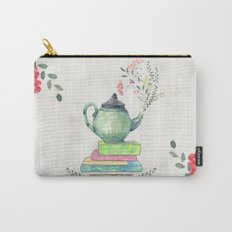 Books & Tea Watercolor Carry-All Pouch