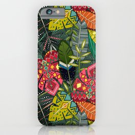 boho hojas forest iPhone Case