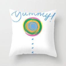 Yummy Loli Blu Throw Pillow