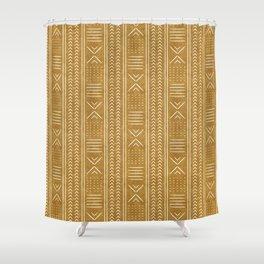 mustard mud cloth - arrow cross Shower Curtain