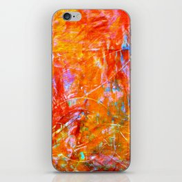 Abstract with Circle in Gold, Red, and Blue iPhone Skin