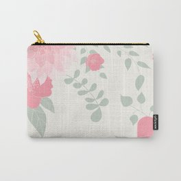 Dahlias and spring flowers in light pastel pink Carry-All Pouch