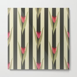 Spring flowers. Tulips are red. Retro. Metal Print