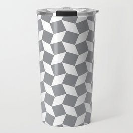 Grey Op Art Pattern Travel Mug