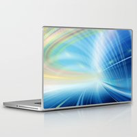 halo Laptop & iPad Skins featuring Colorful Halo by Tom Lee