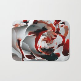 Paining a Rose Red Bath Mat