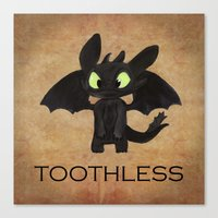 toothless Canvas Prints featuring Toothless  by Walko