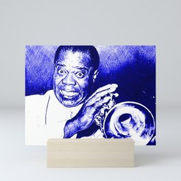 S6 - Louis - Louie - Daniel Armstrong Satchmo - Satch - Pops - Pop Sketch-Art 77v55 Mini Art Print