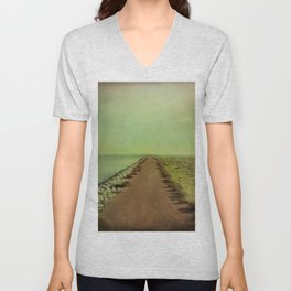 The end of the road Unisex V-Neck