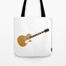Gold Electric Guitar Tote Bag