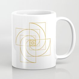 Golden Pinwheel Coffee Mug